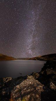 Milkyway, Landscape, Sky, Night, Space, Universe