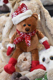 Bear Plush, Teddy Bear, Brown Bear, Plush Gift, Toy