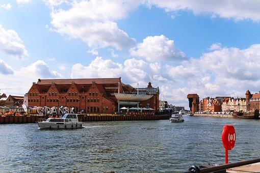 Gdańsk, Motlawa, Channel, Port, The Coast, Tourists