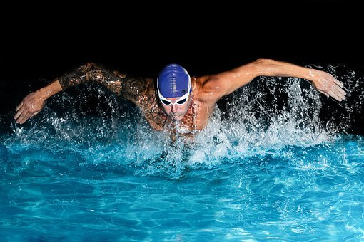 Swimmer, Butterfly Swimming, Swimming Technique, Water