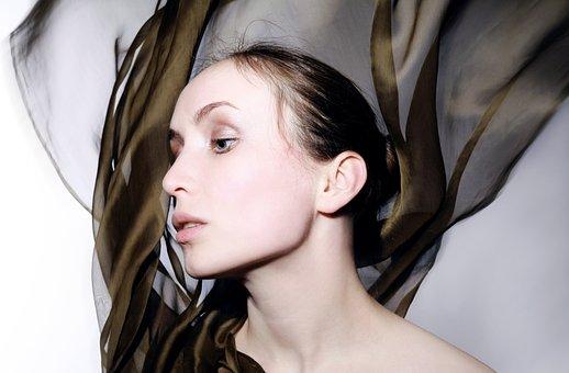 Female, Woman, Profile, Movement, Model, Attractive