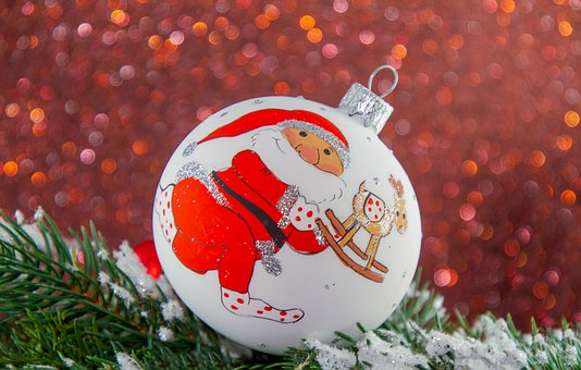 Christmas, Ball, Christmas Ornament, Motif, Santa Claus