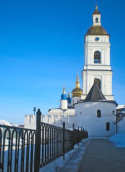 Tobol'sk, Russia, Belfry, Tower, Temple, Orthodoxy