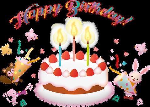 Birthday Cake, Happy Birthday, Candles, Animals, Cute