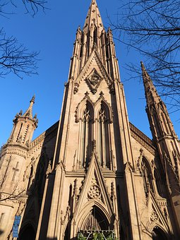 Gothic, Church, A, Architecture, Building, Religion