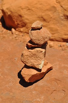Cairn, Utah, Sandstone, Pile, Desert, Stones, Stacked