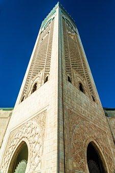 The Hassan Ii Mosque, Mosque, Casablanca, Morocco