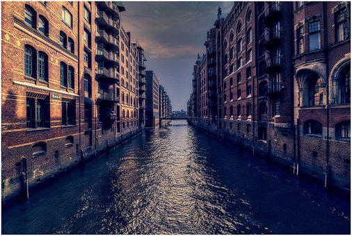 Hamburg, Channel, Speicherstadt, Architecture, City