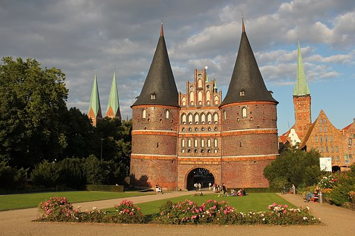 Holsten Gate, Lübeck, City Gate, Historic Center