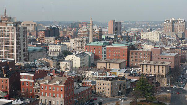 Baltimore, City, Usa, Maryland, Street, Port, Building