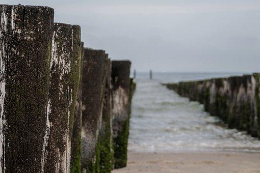 Breakwater, Sea, Water, Wave, Beach, Nature, Coast
