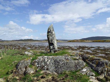 Coastal, Argyll, Scotland, Uk, West Loch Tarbet, Rock
