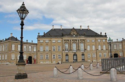 Castle, Amalienborg, Copenhagen, Denmark, City