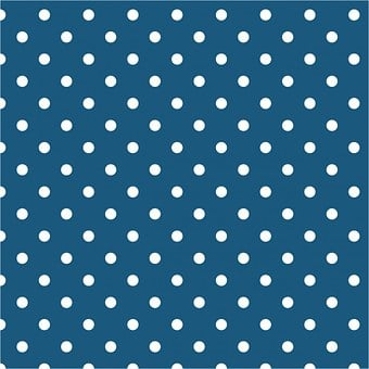 Polka Dots, Teal, White, Spots, Dots, Background