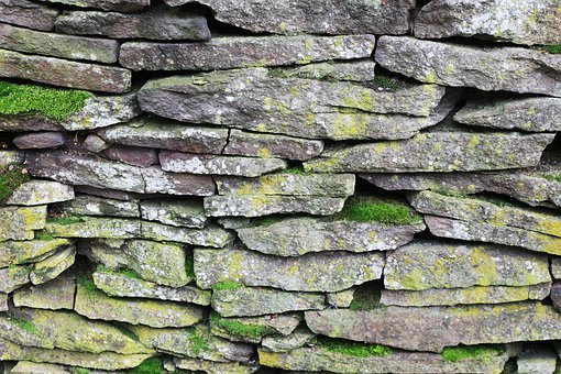 Old, Dry, Stone, Wall, In, Germany, Dry Stone, Drystane