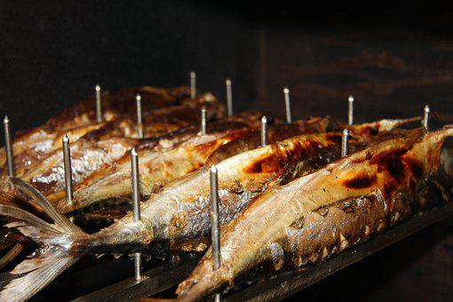 Mackerel, Steckerlfisch, Fish, Eat, Benefit From, Food