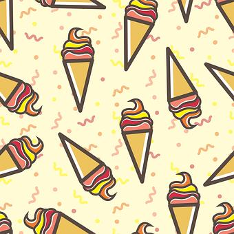 Pattern, Sweet, Seamless, Background, Food, Vanilla