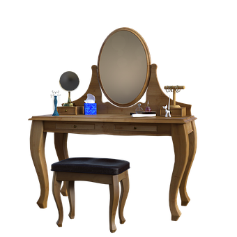Dressing Table, Makeup, Jewelry, Stool, Furniture