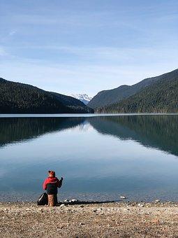 Mountains, Garibaldi, Whistler, Lake, Glacier Fed Lake