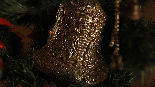 Bell, Christmas, Decoration, Advent, Celebration, Gold