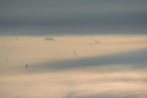 Mist, Fog, Lake, Landscape, Haze, Trees, Nature, Forest