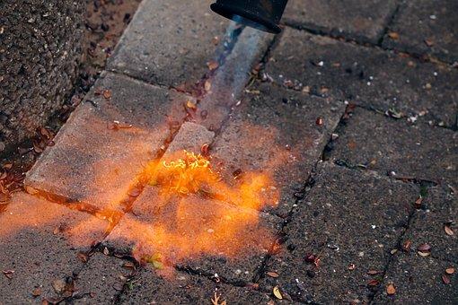 High Temperature Plumbing Soldering Mat, Gas Burner