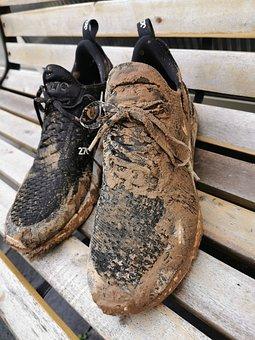 Dirt, Shoes, Dirty, Mud, Hike