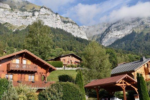 Mountain, Wooden Chalet, Housing, House