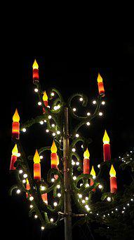 Lamp, Street Lamp, Candles, Christmas, Decoration