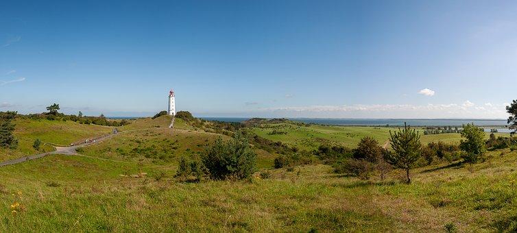 Hiddensee, Thornbush, Lighthouse, Landmark, Island