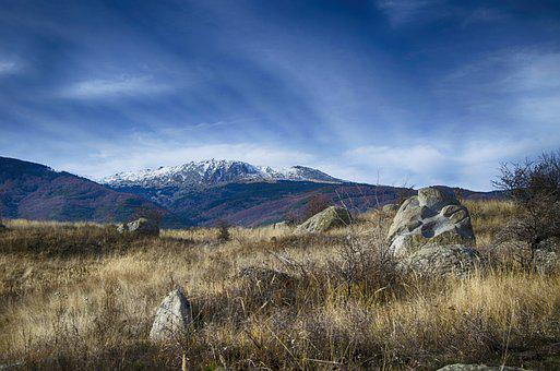 Mountain, Sofia, December, Landscape, Clouds, Rocks