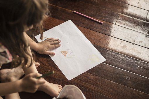 Drawing, Children, Girl, Learning, Education, Colorful