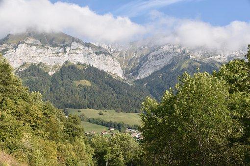 Paragliding, Paraglider, Panoramic Views, Mountains