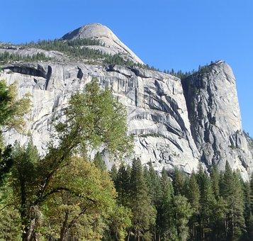 Usa, National Park, Yosemite, Mountain, Forest, Autumn