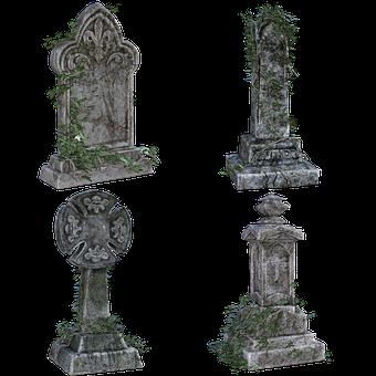 Old Gravestones, Ivy, Scary, Graveyard, Death, Bury