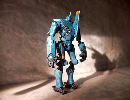 Robot Toy, Blue, Film, Movie, Character, Pacific, Rim
