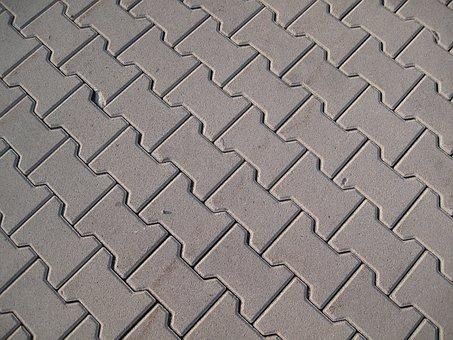 Patch, Concrete Blocks, Structure, Away, Road