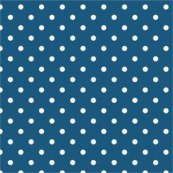 Polka Dots, Teal, White, Spots