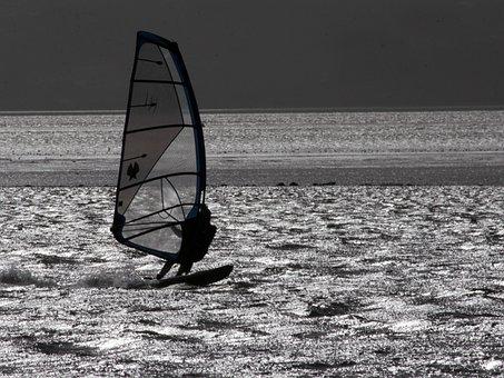 Water, Windsurfer, Windsurfing, Sea, Sport, Leisure