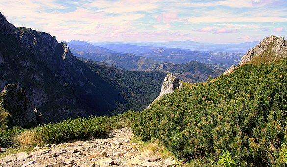 Mountains, Tatry, Poland, View, Mountain Trail, Summer