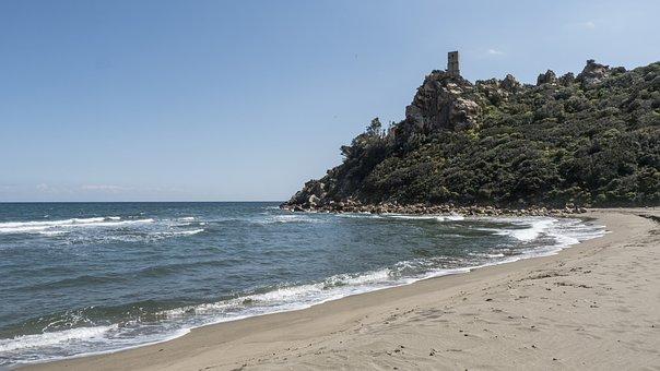 Beach, Italy, Torre Salinas, Sardinia, Sea, Costa