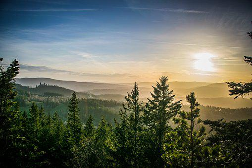 šumava, Mountains, Landscape, Nature, Panorama, Trees
