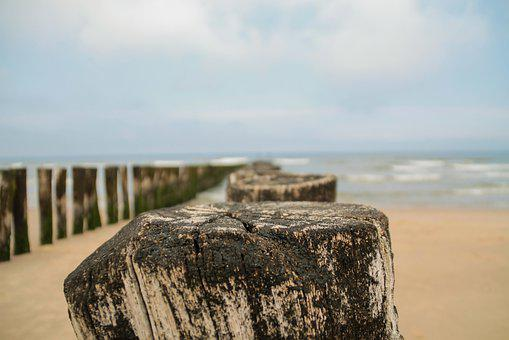 Breakwater, Sea, Water, Wave, Beach, Nature, Coast