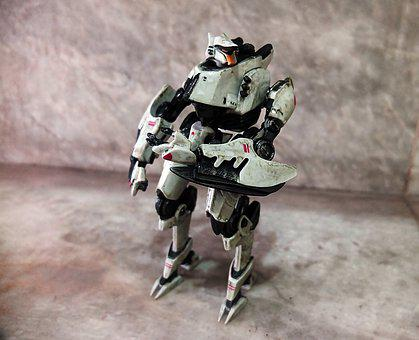 Robot Toy, White, Film, Movie, Character, Pacific, Rim
