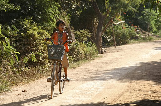 Bike, Girl, Young, Road, Freedom, Youth, Too Large