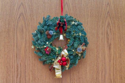 Christmas Wreath, Christmas, Wreath, Decoration, Advent