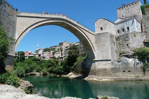 Bridge, Mostar, Bosnia, Herzegovina, Architecture, City
