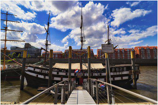 Bremen, Ship, Sailing Vessel, Pannekoekship