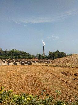 Brick Kiln, Polluting, Nature, Bangladesh