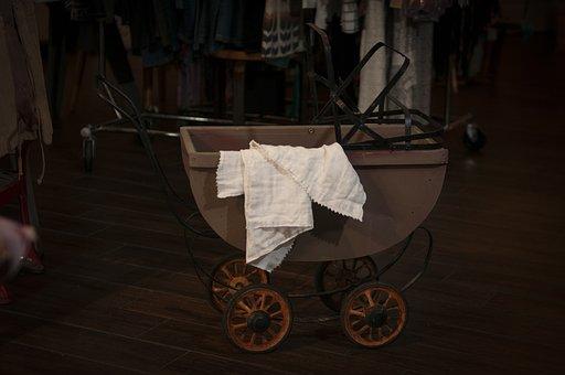 Vintage Buggy, Antique, Shop, Vintage, Buggy, Pram